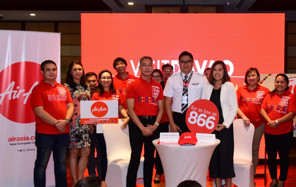 Air Asia with Visit Davao Summer Festival team