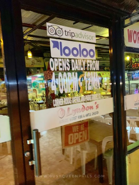 Busyqueenphils Davao Blogger features Davao Restaurant Lyndon's World